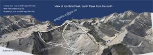 Пик Ленина - Схема маршрутов с Севера